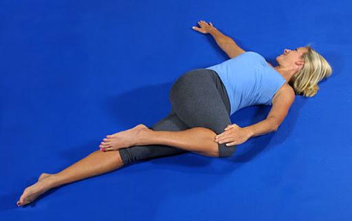 Lying Spine Twist Pose