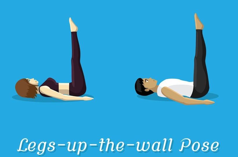 Viparita Karani Yoga Pose